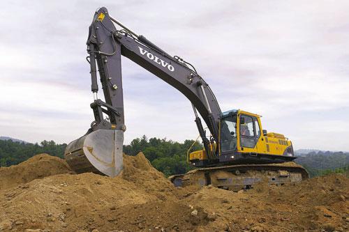Volvo parts excavator